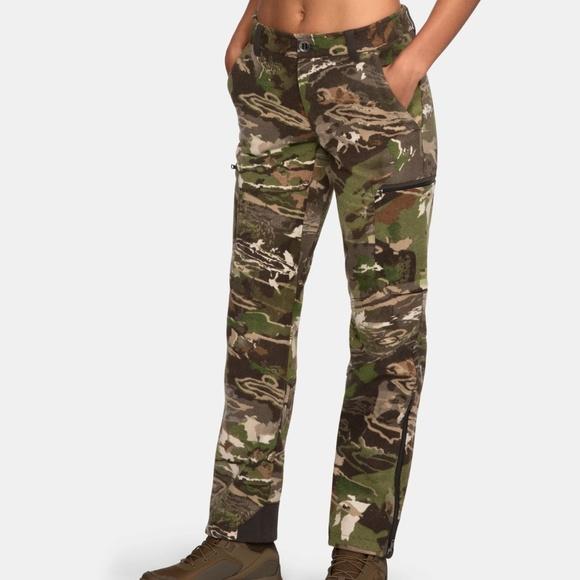 ef346199dbc0e Under Armour Pants   Womens Wool Camo Hunting Nwt   Poshmark